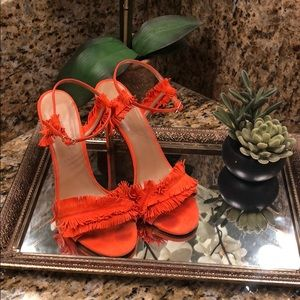 Suede Banana Republic orange heels 8.5